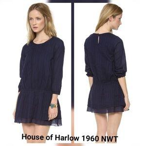 House of Harlow Vivienne Navy blue Dress Large